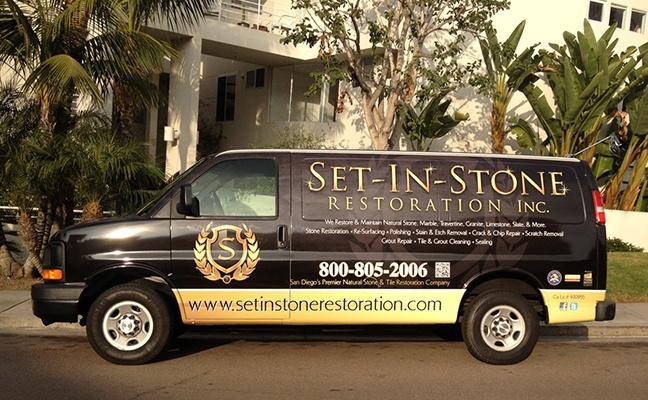 Set in Stone Restoration Van