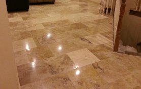 Travertine Level, Grind, and Polish