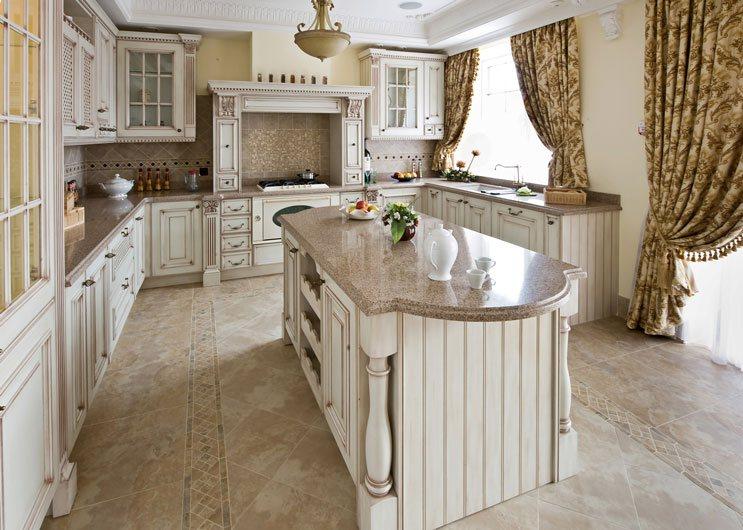 Residential granite kitchen