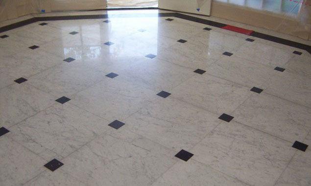dull looking marble floor