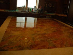 Red Marble Kitchen Island Top