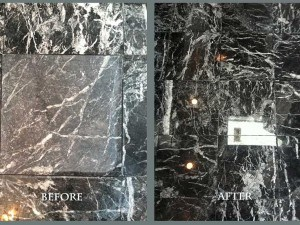 Marble Floor Honed & Polished