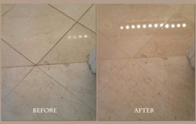 Marble Refinishing and Grout Staining