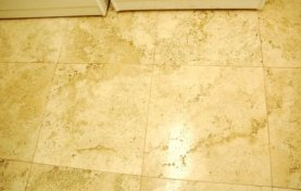 Travertine Laundry Room Floor Cleaned