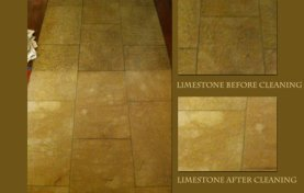 Limestone Floor Cleaned and Sealed