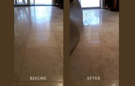 Travertine Honing and Cleaning