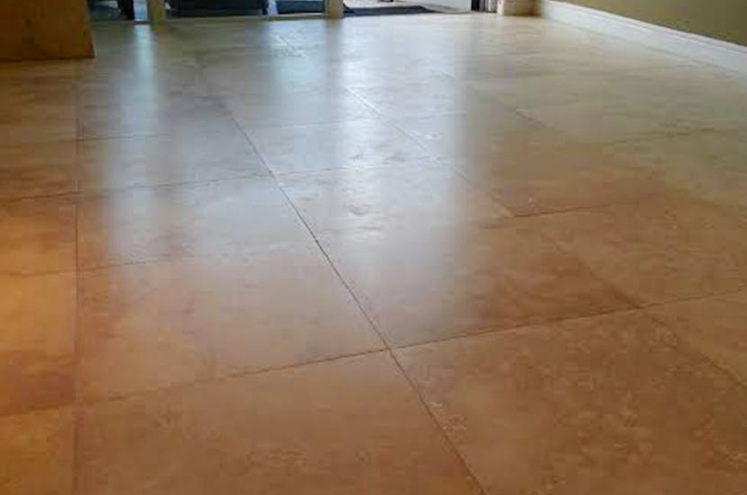 travertine honed repaired sealed after