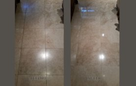 Light Travertine Floor Polishing