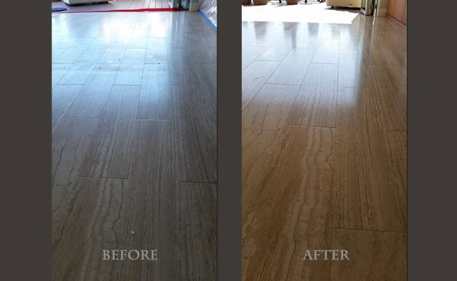 veined-cut-travertine-plank-floor-restored-before-and-after