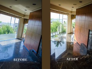 Black Marble Floor Polishing