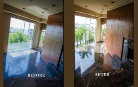 Black Marble Floor Polishing