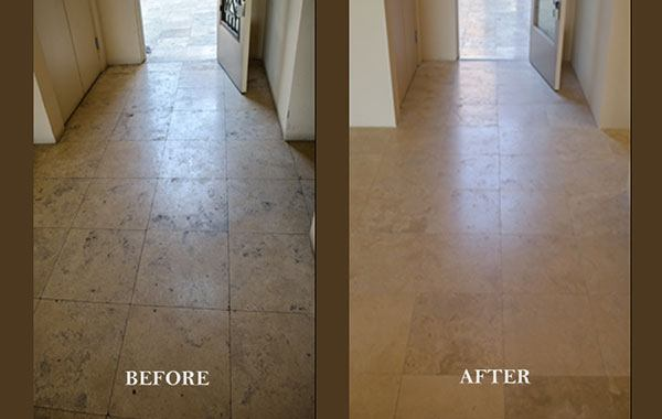 Travertine Floor Restoration 2