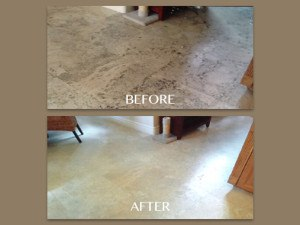 Travertine Holes Before and After