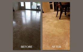 Honed Kitchen Travertine Floor