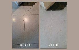 Honed Limestone Hole Repair