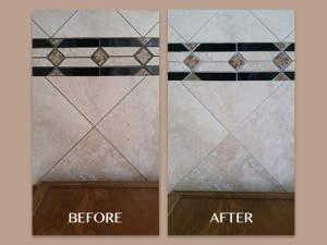 Decorative Border on Travertine