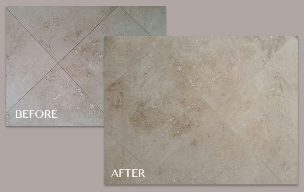 Low Sheen, Honed Travertine