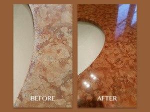 Marble Vanity Restored