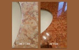 Red Marble Vanity Restoration