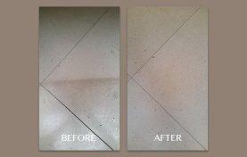 White Limestone Floor Restored