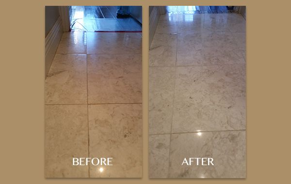 Restoring a Yellowed Marble Floor