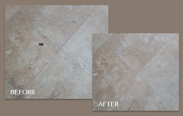 Before and After Travertine Floor