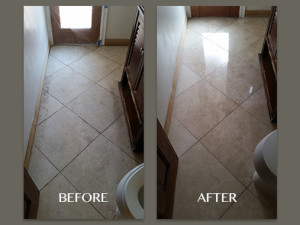 Travertine Floor Restoration Before and After