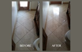 New Finish for 15-Year-Old Travertine