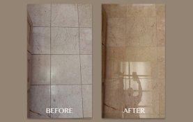 Pink Marble Floor Polishing