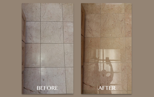 Before and After Marble Floor