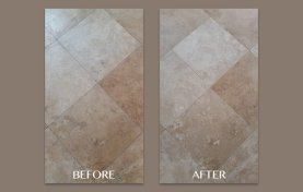 Hone, Clean, and Seal Travertine