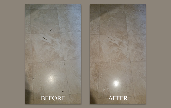 Honing and Filling Holes in Travertine