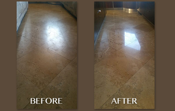 Ten-Year-Old Travertine Floor
