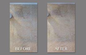 Soft Sheen Restored to Travertine Floor