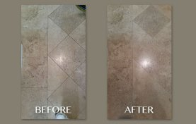 Natural Travertine with Embedded Dirt