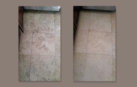 Neglected Travertine Floor from Rentals