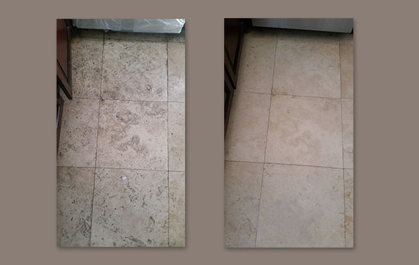Neglected Travertine Floor from Rentals
