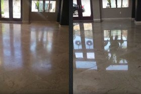 Travertine Strip, Hone, and Repolish