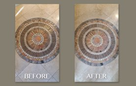 Cleaning Medallion on Travertine