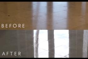 Travertine Strip, Hone, and Repolish