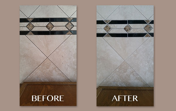 Travertine with Listello Mosaic Border