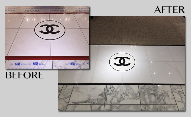 Marble Restoration Before and After Images