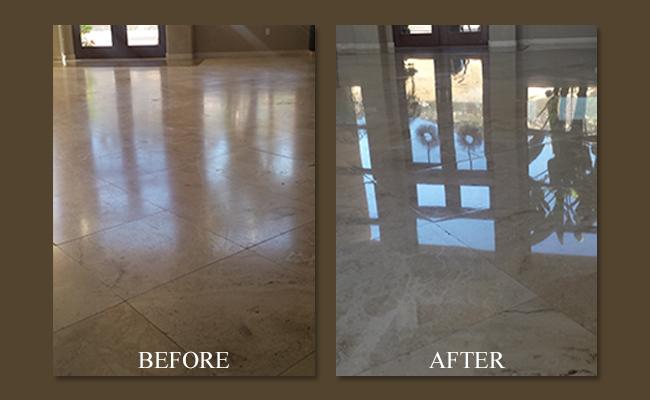 Travertine Floor Restoration Services in San Diego