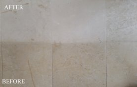 Antiquing, Patina on Travertine Removed