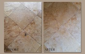Gold Travertine Darkened Over Time