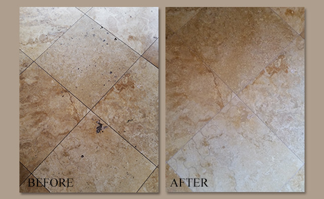 gold travertine floor cleaning sealing