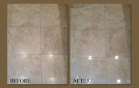 Rental Home Travertine Floor Rejuvenated