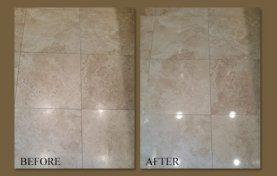 Rental Home Travertine Floor Rejuvenated