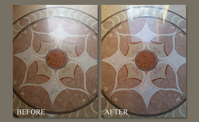 Marble Floor Medallion Polishing