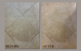Living Room Travertine With Satin Finish